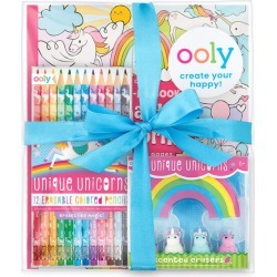 Unique Unicorn Erasable Coloring Pack by OOLY Kids Toys Maisonette found on Bargain Bro India from maisonette.com for $25.99