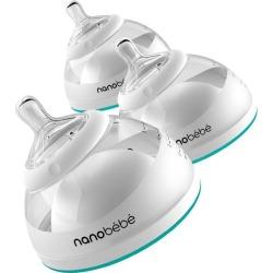 Bottles Breastmilk Baby Bottle - Teal, 5 oz, 3-Pack (Turquoise) Nanobebe Maisonette
