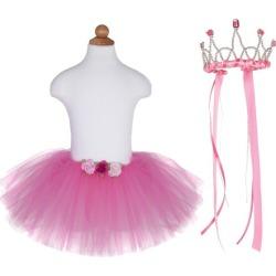 Great Pretenders Tutu & Tiara Bundle, Dark Pink, (Size 4-6) Maisonette found on Bargain Bro from maisonette.com for USD $25.08