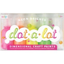 Dot-A-Lot Painting Set, Neon Brights by OOLY Kids Toys Maisonette found on Bargain Bro India from maisonette.com for $13.99