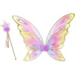 Great Pretenders Glitter Rainbow Wings & Wand Bundle, Gold Maisonette found on Bargain Bro Philippines from maisonette.com for $18.50