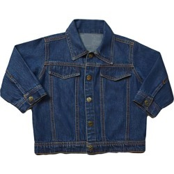 juju + stitch Little Kid Back Embroidery Denim Jacket, Medium (Blue, Size 6Y) Maisonette found on Bargain Bro Philippines from maisonette.com for $86.00