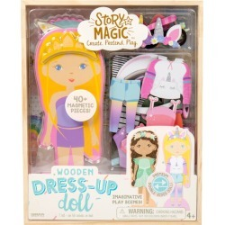 Wooden Dress Up Dolls by Story Magic Kids Toys Maisonette found on Bargain Bro Philippines from maisonette.com for $14.99