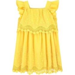 Mayoral Poplin Dress, (Yellow, Size 3Y) Maisonette found on Bargain Bro from maisonette.com for USD $60.04