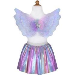 Great Pretenders Magical Unicorn Skirt & Wings, Pastel (Multicolor, Size 4-6) Maisonette found on Bargain Bro Philippines from maisonette.com for $23.00