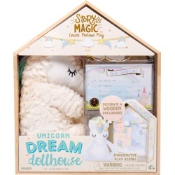 Unicorn Dream Doll House by Story Magic Kids Toys Maisonette found on Bargain Bro Philippines from maisonette.com for $19.99
