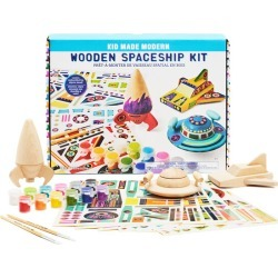 Wooden Spaceship Craft Kit by Kid Made Modern Kids Toys Maisonette found on Bargain Bro Philippines from maisonette.com for $30.00