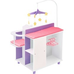 Little Princess Baby Doll Changing Station w/ Storage, White by Olivia's Little World Kids Toys Maisonette
