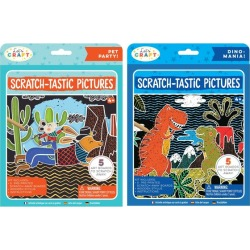 Kids Toys Scratch-Tastic Pictures Bundle: Pets & Dinos Bright Stripes Maisonette found on Bargain Bro India from maisonette.com for $15.99