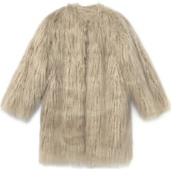 Little Creative Factory Beatnik Faux Fur Coat (Cream, Size 6-7Y) Maisonette found on Bargain Bro Philippines from maisonette.com for $350.00