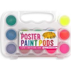 Lil' Poster Paint Pods & Brush, Glitter & Neon by OOLY Kids Toys Maisonette found on Bargain Bro India from maisonette.com for $13.50