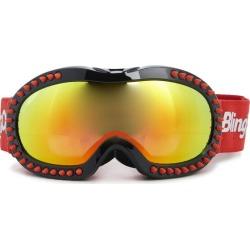Bling2O Red Spike Black Frame Ski Goggle Maisonette found on Bargain Bro from maisonette.com for USD $45.56