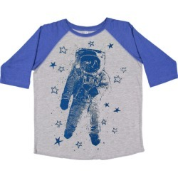 So Lucky Fish Starman Baseball T-Shirt, Royal and (Grey, Size 9-10Y) Maisonette found on Bargain Bro India from maisonette.com for $44.00