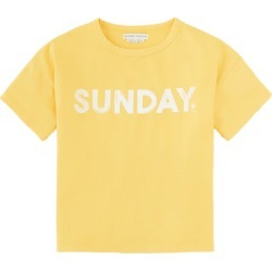 The Sunday Collective Drop Shoulder T-Shirt, Samoan Sun (Yellow, Size 12Y) Maisonette found on Bargain Bro India from maisonette.com for $35.00