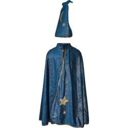 Starry Night Wizard Cape & Hat (Blue, Size 7-8) by Great Pretenders Kids Toys Maisonette found on Bargain Bro from maisonette.com for USD $22.80