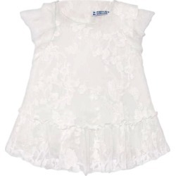 Mayoral Natural Embroidered Dress, (White, Size 12M) Maisonette found on Bargain Bro from maisonette.com for USD $56.24