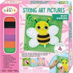 String Art Pictures, Busy Garden by Bright Stripes Kids Toys Maisonette found on Bargain Bro Philippines from maisonette.com for $17.99