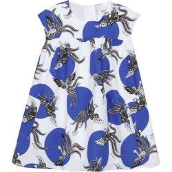Kenzo Polka Dot Phoenix Dress, (White, Size 10Y) Maisonette found on Bargain Bro from maisonette.com for USD $177.84