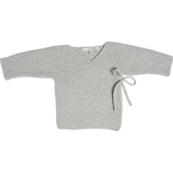 The House in the Clouds - The Maeve Cardigan Sweater in Cashmere, Morning (Grey, Size 9-12M) Maisonette found on Bargain Bro Philippines from maisonette.com for $205.00