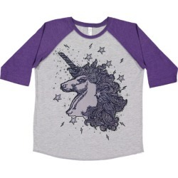 So Lucky Fish Unicorns & Stardust Baseball T-Shirt, Purple and (Grey, Size 9-10Y) Maisonette found on Bargain Bro India from maisonette.com for $44.00