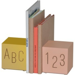 ABC123 Bookend Set, Gold/Pink (Pink Gold) Tree by Kerri Lee Maisonette found on Bargain Bro India from maisonette.com for $72.00