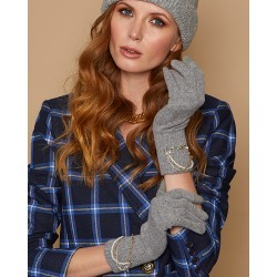 Eugenia Kim Sloane Gloves in Grey/Cotton found on MODAPINS from Olivela for USD $195.00