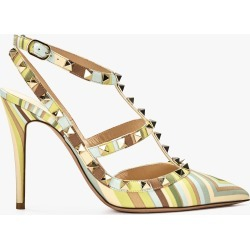 Valentino Rockstud Slingback Pump in Multicolor Green Tea Sorbet Size 37.5 | Leather found on Bargain Bro India from Olivela for $955.00