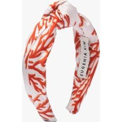Eugenia Kim Silk Karyn Headband in Red/White found on MODAPINS from Olivela for USD $135.00