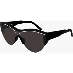 Balenciaga Black & White Trim Cat-Eye Sunglasses in Black/Grey found on Bargain Bro Philippines from Olivela for $450.00