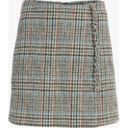 Adam Lippes Scottish Tweed Wrap Mini Skirt found on MODAPINS from Olivela for USD $890.00