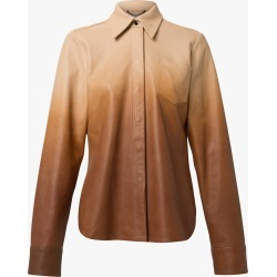 Women's Dorothee Schumacher Degrad� Blouse in Beige Degrade Size 3 | Leather found on MODAPINS from Olivela for USD $960.00