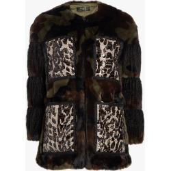 Women's HEURUEH Glitz Coat in Camouflage Size Small