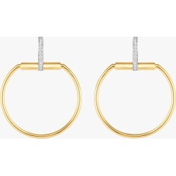 Roberto Coin Parisienne Earrings | Diamonds/Mixed Metals in Yellow Gold