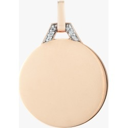 Walters Faith Engravable Disc Pendant | Diamonds/Rose Gold found on Bargain Bro India from Olivela for $850.00