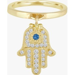 Eden Presley Large Charm Ring Size 7 | Diamonds/Gemstones/Yellow Gold in Blue Stone/Boulder Opal/Multiple