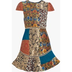 Alice and Olivia Rapunzel Patchwork Dress found on MODAPINS from Olivela for USD $595.00