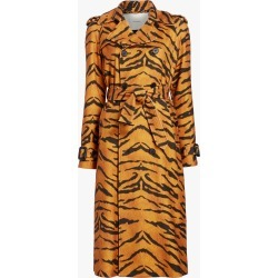 Women's Adam Lippes Trench Coat in Tiger Burnout Size Large