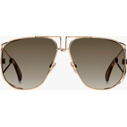 Givenchy Mirrored Shield Cutout Metal Aviator Sunglasses in Rose Gold/Brown Gradient found on Bargain Bro Philippines from Olivela for $465.00
