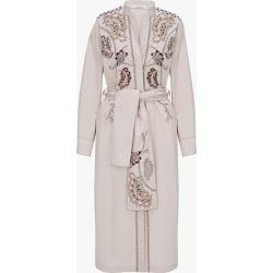 Women's Dorothee Schumacher Poplin Power Tunic Dress in Grey Sand Size 3   Cotton