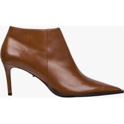 Dorothee Schumacher Twisted Femininity Low Bootie in Sienna Brown Size 37 | Leather found on MODAPINS from Olivela for USD $650.00