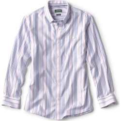 Pinpoint Stripe Wrinkle-Free Comfort Stretch Long-Sleeved Shirt found on Bargain Bro from Orvis for USD $74.48