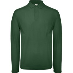 B & C Id.001 Mens Long Sleeve Polo (Racing Green) - M - Also in: 4XL, XL, 2XL, XS, S, L, 3XL found on Bargain Bro Philippines from Verishop Inc for $20.95