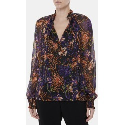 Caden Split Neck Long Sleeve Printed Top - L - Also in: M, S, XS found on Bargain Bro Philippines from Verishop Inc for $365.00