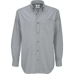B & C Mens Oxford Long Sleeve Shirt / Mens Shirts (Silver Moon) - S - Also in: 5XL, XL, L, M, 4XL, XXL found on Bargain Bro Philippines from Verishop Inc for $36.45