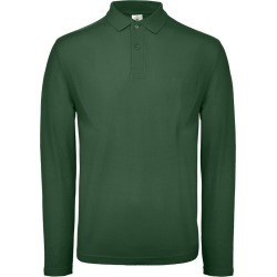 B & C Id.001 Mens Long Sleeve Polo (Racing Green) - XL - Also in: M, XS, L, S, 2XL, 4XL, 3XL found on Bargain Bro Philippines from Verishop Inc for $20.95