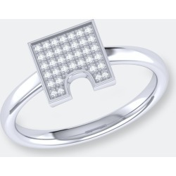 City Arches Square Diamond Ring In Sterling Silver - 7 - Also in: 5, 6.5, 8, 7.5, 10, 8.5, 9.5, 5.5, 9, 6 found on Bargain Bro from Verishop Inc for USD $151.24