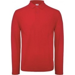 B & C Id.001 Mens Long Sleeve Polo (Crimson) - 4XL - Also in: XL, L, 3XL, XS, M, 2XL, S found on Bargain Bro Philippines from Verishop Inc for $20.95
