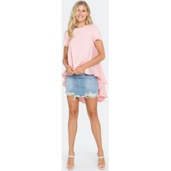 High Low T-Shirt With Eyelet Peplum - S - Also in: M, XS, L found on Bargain Bro Philippines from Verishop Inc for $80.00