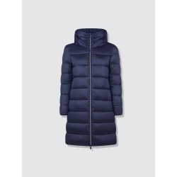Women'S Hooded Long Quilted Puffer Coat In Iris Stand-Up Collar found on Bargain Bro from Verishop Inc for USD $226.48