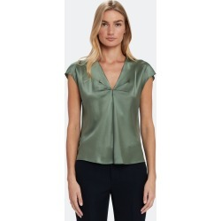 V-Neck Drape Silk Blouse - L found on Bargain Bro Philippines from Verishop Inc for $83.00